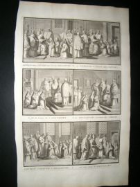 Picart C1730 Folio Antique Print. Religious Catholic 57